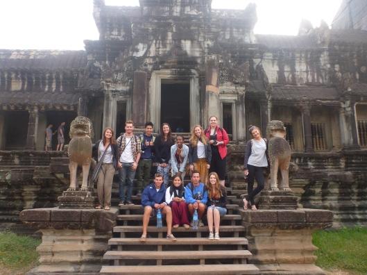 Heading into Angkor Wat temple
