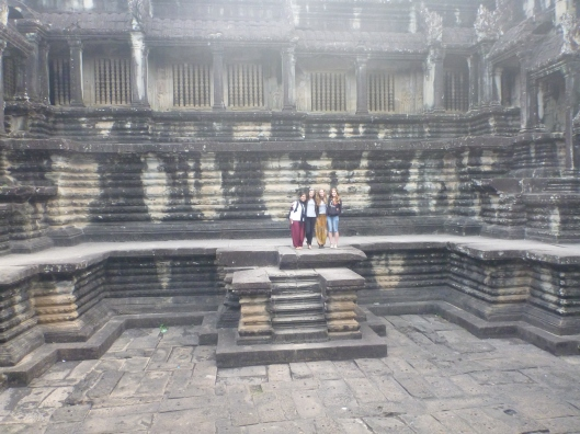 one of 4 massive emply swimming pools in Angkor Wat